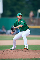 Beloit Snappers relief pitcher Seth Martinez (20) delivers a pitch during a game against the Dayton Dragons on July 22, 2018 at Pohlman Field in Beloit, Wisconsin.  Dayton defeated Beloit 2-1.  (Mike Janes/Four Seam Images)