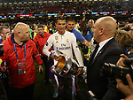 Cristiano Ronaldo of Real Madrid with the Champions League trophy during the Champions League Final match at the Millennium Stadium, Cardiff. Picture date: June 3rd, 2017.Picture credit should read: David Klein/Sportimage