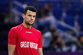 7th September 2017, Fenerbahce Arena, Istanbul, Turkey; FIBA Eurobasket Group D; Russia versus Great Britain; Point Guard Luke Nelson #19 of Great Britain looks on during the warms up session before the start of the match