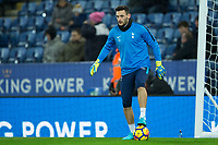 Hugo Lloris of Tottenham during the Premier League match between Leicester City and Tottenham Hotspur at the King Power Stadium, Leicester, England on 28 November 2017. Photo by James Williamson / PRiME Media Images.