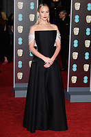 Jennifer Lawrence<br /> arriving for the BAFTA Film Awards 2018 at the Royal Albert Hall, London<br /> <br /> <br /> ©Ash Knotek  D3381  18/02/2018