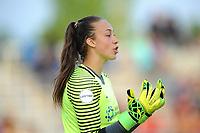 Boyds, MD - Saturday May 6, 2017: Kailen Sheridan during a regular season National Women's Soccer League (NWSL) match between the Washington Spirit and Sky Blue FC at Maureen Hendricks Field, Maryland SoccerPlex.