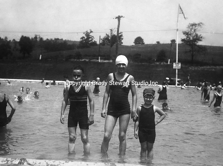 East McKeesport PA:  The Stewart's taking a break from swimming at the Blue Dell Swimming Pool - 1932