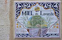 Europe/France/Provence-Alpes-Côte d'Azur/84/Vaucluse/Sault: Enseigne miel de lavande