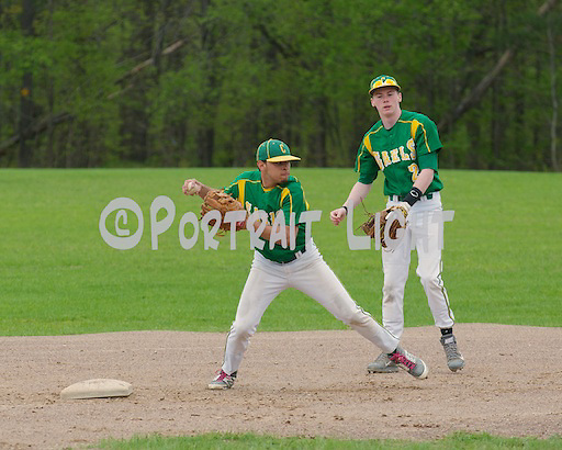 CHS senior shortstop Josh Bahnick (left), a captain, and senior second baseman Luke Elworthy.