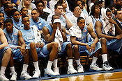 The UNC bench appears dejected during the final minutes of the last regular season game against Duke at Cameron Indoor Stadium in Durham, N.C., Sat., March 6, 2010. The Blue Devils licked the Tar Heels 82-50.