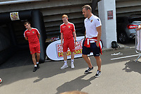 Luke Wilkinson of Stevenage in the Boro Kids Zone  during Stevenage vs Tranmere Rovers, Sky Bet EFL League 2 Football at the Lamex Stadium on 4th August 2018