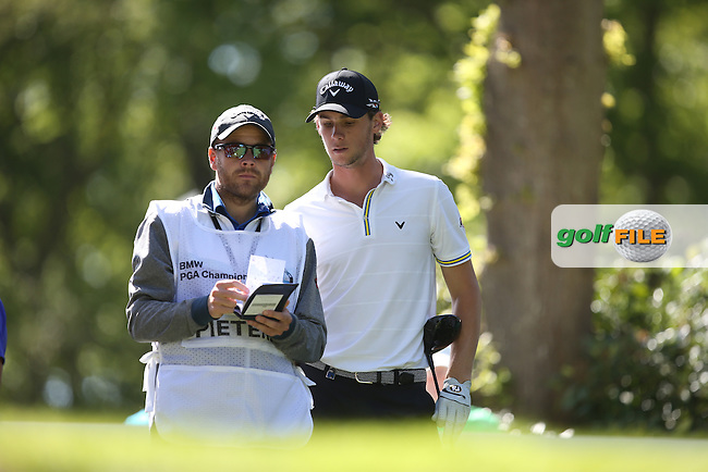 Thomas PIETERS (BEL) on the 17th tee during Round One of the 2015 BMW PGA Championship over the West Course at Wentworth, Virginia Water, London. 21/05/2015Picture David Lloyd, www.golffile.ie.