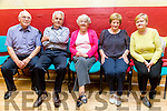 l-r  Patrick McGlynn, Jimmy Donoghue, Pauline McGlynn and Rita O'Donoghue and Mary O'Connor at the Sliabh Luachra Active Retired Network  Tea Dance  hosted by Ballymac Active Retired in BALLYMAC Community Centre on Sunday