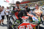 June 4th 2017, Mugello Circuit, Tuscany, Italy; MotoGP Grand Prix of Italy, Race day; Cal Crutchlow (LCR Honda) on the grid before the start