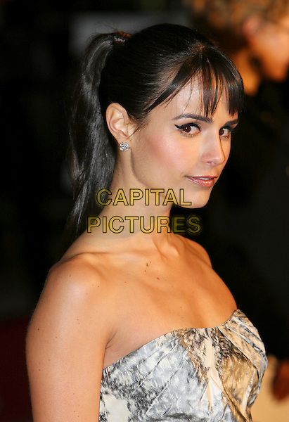 "JORDANA BREWSTER.""Fast & Furious"" UK film premiere at VUE west End cinema, Leicester Square, London, England 19th March 2009.portrait headshot strapless jordanna  ponytail fringe diamond earring .CAP/MAR.©Martin Harris/Capital Pictures"