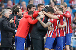 Atletico de Madrid's players celebrate goal during La Liga match. April 23,2016. (ALTERPHOTOS/Acero)