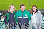 C'MON BALLYDUFF: Supporting Ballyduff in the Senior County Championship hurling final at Austin Stack park, Tralee on Sunday l-r: Elizabeth Hussey, Noel O'Carroll and Thersa Hussey.