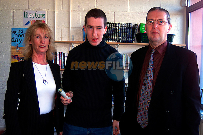 Parents Pauline and Brain Murphy and there Son Gavin,at St Itas School...Pic Tony Campbell/Newsfile