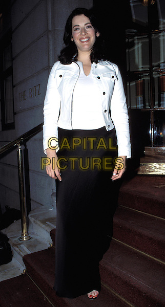 NIGELLA LAWSON.Ref: 11695.sales@capitalpictures.com.www.capitalpictures.com.©Capital Pictures.white denim jacket