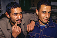 Tunisia.  Tunis Medina.  Two Brothers, Jewelry Salesmen.