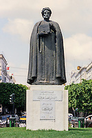 Tunis, Tunisia.  Statue of Ibn Khaldun, Tunisian Historian and Philosopher.