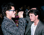 Rob Lowe and Michael J Fox in Los Angeles, California in 1986.