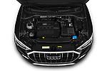 Car Stock 2019 Audi Q3 Premium-Plus 5 Door SUV Engine  high angle detail view