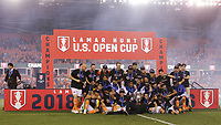 Houston, TX - Wednesday September 26, 2018: 2018 Lamar Hunt U.S. Open Cup final Houston Dynamo vs Philadelphia Union at BBVA Compass Stadium.