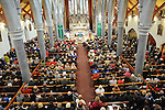The capacity crowd at the SOSAD mass in the Augustinian church. Photo: Colin Bell/pressphotos.ie