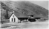 RGS depot at Telluride, a town-side view.<br /> RGS  Telluride, CO  Taken by Jackson, Richard B. - 7/7/1939