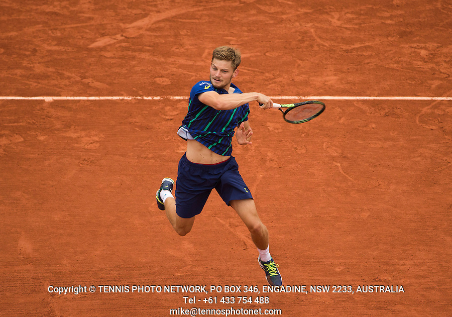 DAVID GOFFIN (BEL)<br /> <br /> TENNIS - FRENCH OPEN - ROLAND GARROS - ATP - WTA - ITF - GRAND SLAM - CHAMPIONSHIPS - PARIS - FRANCE - 2016  <br /> <br /> <br /> <br /> &copy; TENNIS PHOTO NETWORK