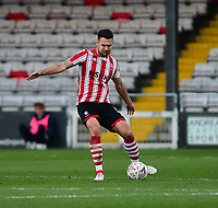 Lincoln City's Jason Shackell<br /> <br /> Photographer Andrew Vaughan/CameraSport<br /> <br /> Emirates FA Cup First Round - Lincoln City v Northampton Town - Saturday 10th November 2018 - Sincil Bank - Lincoln<br />  <br /> World Copyright © 2018 CameraSport. All rights reserved. 43 Linden Ave. Countesthorpe. Leicester. England. LE8 5PG - Tel: +44 (0) 116 277 4147 - admin@camerasport.com - www.camerasport.com