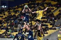 Highlanders' Jackson Hemopo in action during the Super Rugby - Hurricanes v Highlanders at Westpac Stadium, Wellington, New Zealand on Friday 8 March 2019. <br /> Photo by Masanori Udagawa. <br /> www.photowellington.photoshelter.com