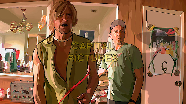 WOODY HARRELSON & ROBERT DOWNEY JR..in A Scanner Darkly.Filmstill - Editorial Use Only.CAP/AWFF.www.capitalpictures.com.sales@capitalpictures.com.Supplied By Capital Pictures.