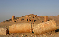 Tower-tombs of Lamliku, Valley of Tombs, late 3rd century AD, Palmyra, Syria Picture by Manuel Cohen