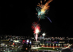 Fireworks are seen over downtown after the Reno Aces defeated the Colorado Springs Sky Sox 6-3 on Friday, July 15, 2011, in Reno, Nev..Photo by Cathleen Allison