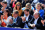 24th April 2019, Real Club de Tenis, Barcelona, Spain; ATP 500, Barcelona Open Banc Sabadell, day 3; picture show Gerard Pique enjoy game Rafael Nadal (ESP) vs Leonardo ayer (ARG)