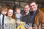 LOOKING: Looking over some of the goods on display at the Kerry Home and Garden Show on the Dan Spring Road, Tralee on Saturday. l-r: Fionn,Maggie,Conor and Pearse and Stephen Murphy (Tralee).   Copyright Kerry's Eye 2008