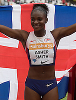 New 200m British Record holder Dina ASHER-Smith during the Sainsbury's Anniversary Games, Athletics event at the Olympic Park, London, England on 25 July 2015. Photo by Andy Rowland.