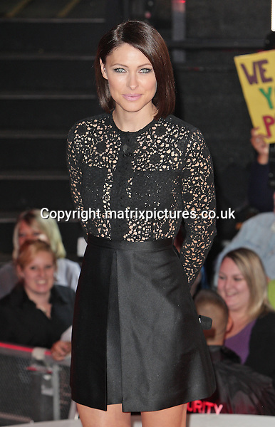 NON EXCLUSIVE PICTURE: MATRIXPICTURES.CO.UK<br /> PLEASE CREDIT ALL USES<br /> <br /> WORLD RIGHTS<br /> <br /> British television presenter Emma Willis is pictured as she hosts the Celebrity Big Brother double eviction night, at the Elstree Studios in Hertfordshire.<br /> <br /> SEPTEMBER 6th 2013<br /> <br /> REF: GBH 135910