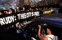 (020129-SWR03.jpg) 25 Apr 95 - New York, NY -- ACT-UP shut down the Midtown Tunnel to protest Giuliani's budget cuts which wojuld effect AIDS and other Health services. The direct action was one of five planned to shut down the city...Photo © Stacy Walsh Rosenstock