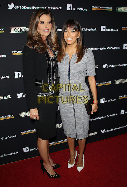 Hollywood, CA - March 10: Maria Shriver, Eva Longoria Attending Premiere Of HBO Documentary Films' &quot;Paycheck To Paycheck&quot;, Held at Linwood Dunn Theater California on March 10, 2014.<br /> CAP/MPI/RTNUPA<br /> &copy;RTNUPA/MediaPunch/Capital Pictures