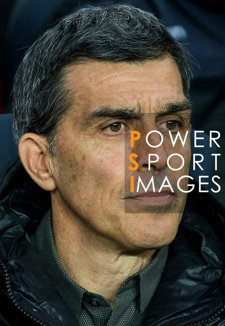 Manager Juan Ramon Lopez Muniz of Levante UD looks on prior to the La Liga 2017-18 match between FC Barcelona and Levante UD at Camp Nou on 07 January 2018 in Barcelona, Spain. Photo by Vicens Gimenez / Power Sport Images