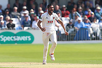 Mohammad Amir of Essex celebrates taking the wicket of Ben Coad during Yorkshire CCC vs Essex CCC, Specsavers County Championship Division 1 Cricket at Scarborough CC, North Marine Road on 7th August 2017