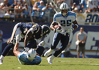 Sept. 17, 2006; San Diego, CA, USA; Tennessee Titans running back (25) LenDale White against the San Diego Chargers at Qualcomm Stadium in San Diego, CA. Mandatory Credit: Mark J. Rebilas