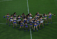 BOGOTA -COLOMBIA, 4-06-2017.Cheerleaders in actions during match Millonarios and Bucaramanga.Action game between  Millonarios  and Atletico Bucaramanga  during match for quarter finals of the Aguila League I 2017 played at Nemesio Camacho El Campin stadium . Photo:VizzorImage / Felipe Caicedo  / Staff