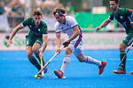 Krefeld, Germany, May 19: During the Final4 Gold Medal fieldhockey match between Uhlenhorst Muelheim and Mannheimer HC on May 19, 2019 at Gerd-Wellen Hockeyanlage in Krefeld, Germany. (worldsportpics Copyright Dirk Markgraf) *** Timm Herzbruch #14 of Uhlenhorst Muelheim, Dan Nguyen Luong #22 of Mannheimer HC