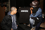 Stage manager Sharika Niles with Cast members of 'The Color Purple' host a meet and greet with t-shirts for the kids from PAL at The Jacobs Theatre on December 7, 2016 in New York City.