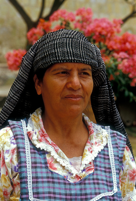Woman from Tlacolula visiting Oaxaca, Oaxaca State, Mexico, North America