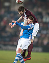 Hearts' Darren Barr gets above St Johnstone's Patrick Cregg.
