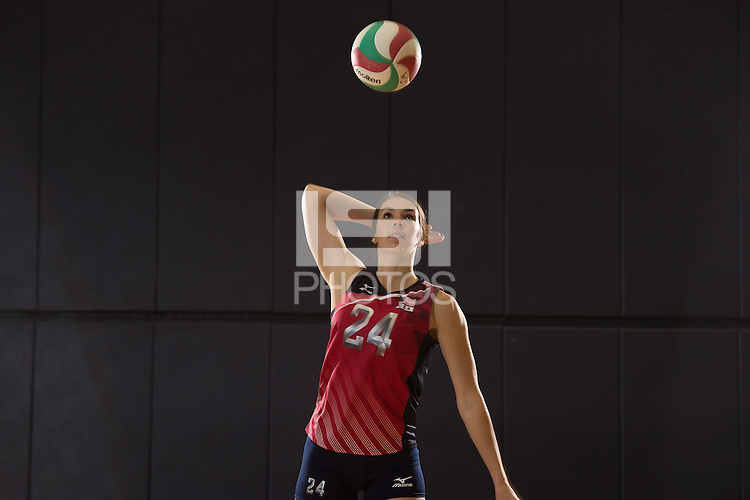 Anaheim, CA - May 24, 2016: The 2016 US Women's National Volleyball team.