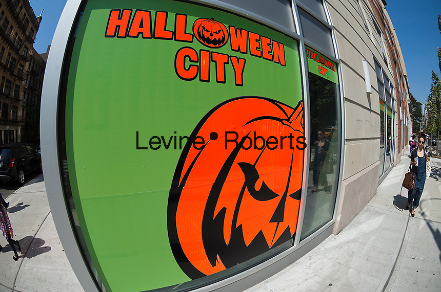 A Halloween City pop-up store in New York on Friday, September 14, 2012.  The Halloween holiday has become the start of the Christmas shopping season. (© Richard B. Levine)