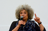 Angela Davis, activist author and professor speaking on activism, mass incarceration, violence against women, international human rights and racism at Jacob Sleeper Auditorium Boston University 2.9.19