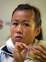 29-1-09, Almere, Training Fedcup team, Pauilne Wong